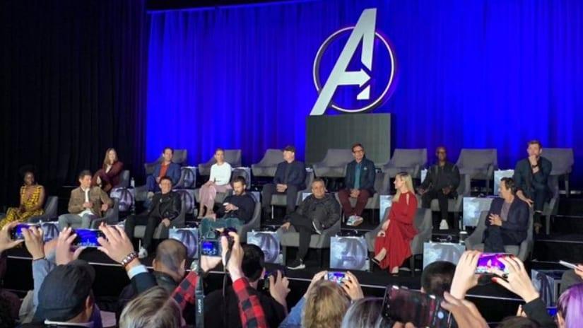 Avengers: Endgame press conference leaves empty seats for fallen superheroes as survivors dodge spoilers