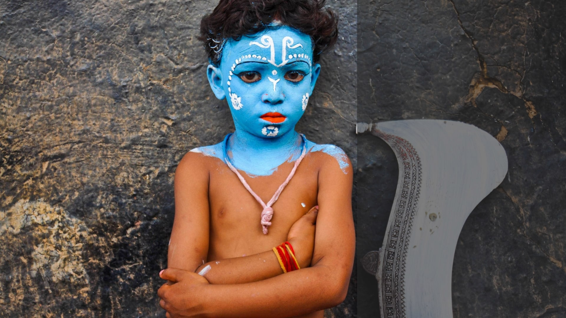 Becoming Shiva: The Gajan Sanyasis celebrate the blue god's marriage to Harkali