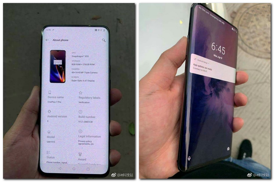 OnePlus 7 Pro leaked in new images, to come with curved display and Snapdragon 855