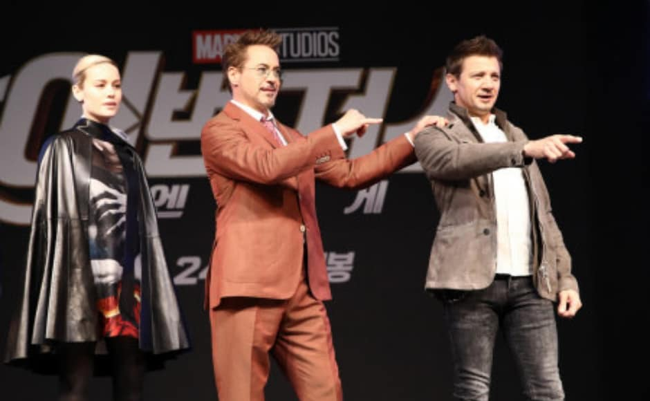 Robert Downey Jr, Brie Larson and Jeremy Renner interacted with fans at the event