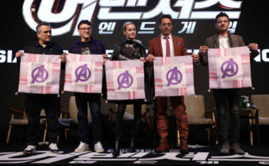 Avengers veterans Robert Downey Jr and Jeremy Renner, along with Brie Larson and Marvel chief Kevin Feige, directors Joe and Anthony Russo were present at Seoul press event to promote their upcoming tentpole, Avengers: Endgame