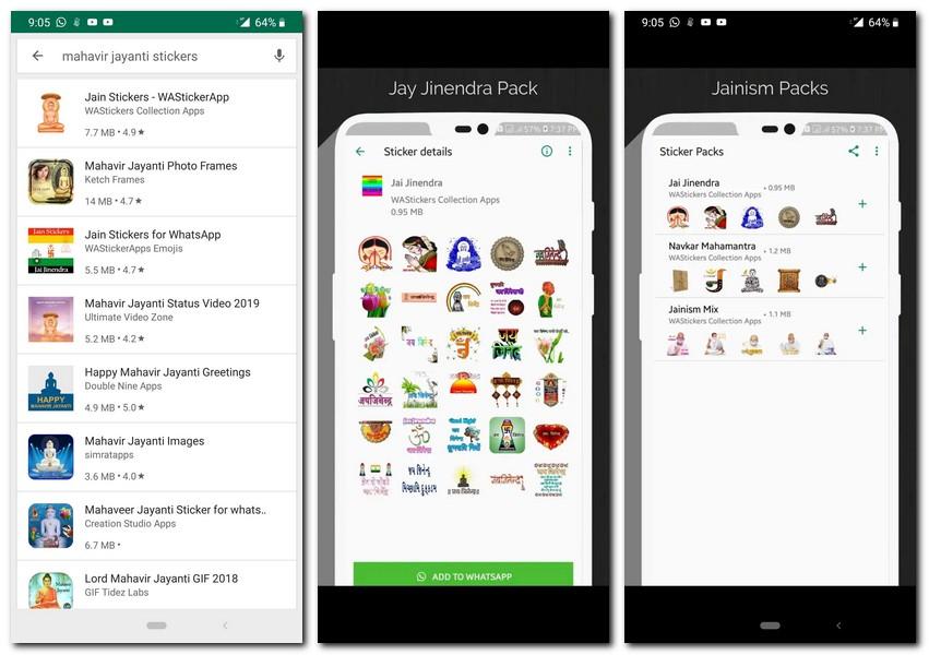 Mahavir Jayanti 2019: How to download the festive-themed WhatsApp stickers