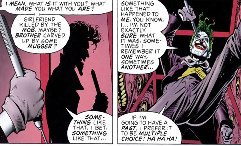 It was probably too much to hope that a crazy man would remember his past coherently | DC comics