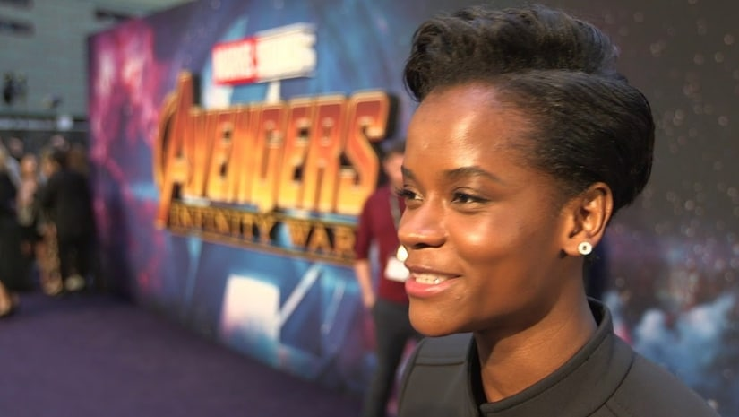 Shuri (Leticia Wright) during an Avengers red carpet. Image from Facebook