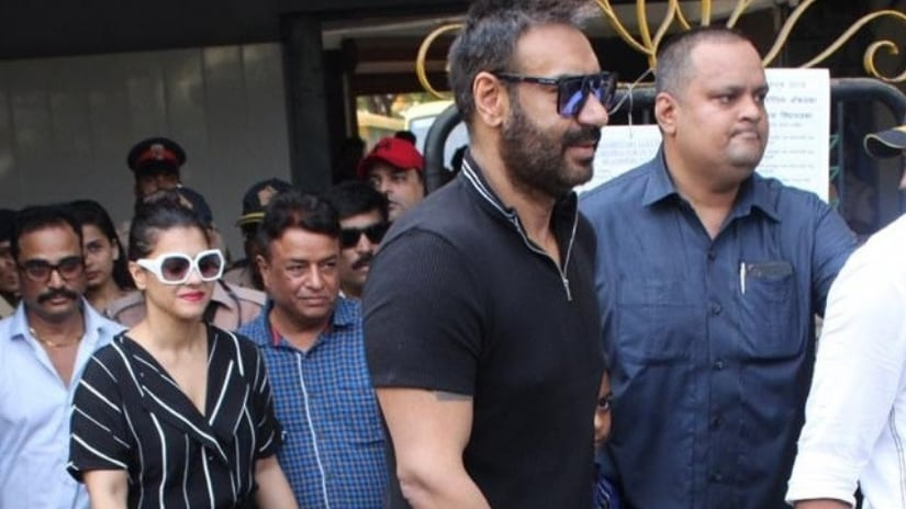 Ajay Devgn and Kajol snapped as they stepped out to cast their vote in a Juhu school