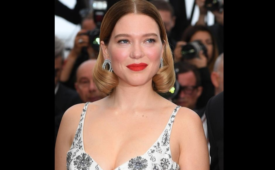 Leá Seydoux at the premiere of Oh Mercy at 72nd Cannes Film Festival. Twitter