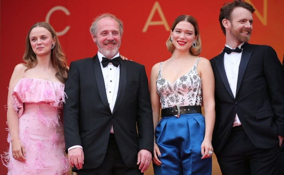 The cast of Oh Mercy at the film's premiere at Cannes 2019. Twitter
