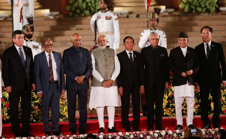 Leaders of BIMSTEC countries including President of Bangladesh Abdul Hamid, Sri Lankan President Maithripala Sirisena, Nepal Prime Minister K P Sharma Oli, President of Myanmar U Win Myint and Bhutanese Prime Minister Lotay Tshering also attended the gala event. From Thailand, its Special Envoy Grisada Boonrach represented the country. Kyrgyz President and current chair of Shanghai Cooperation Organisation Kyrgyz President Sooronbay Jeenbekov, and Mauritius PM Pravind Kumar Jugnauth also attended. PTI