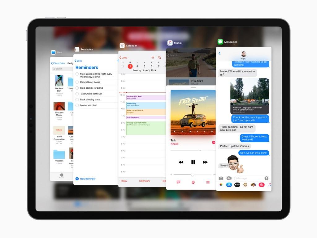 Multi-tasking iPadOS.