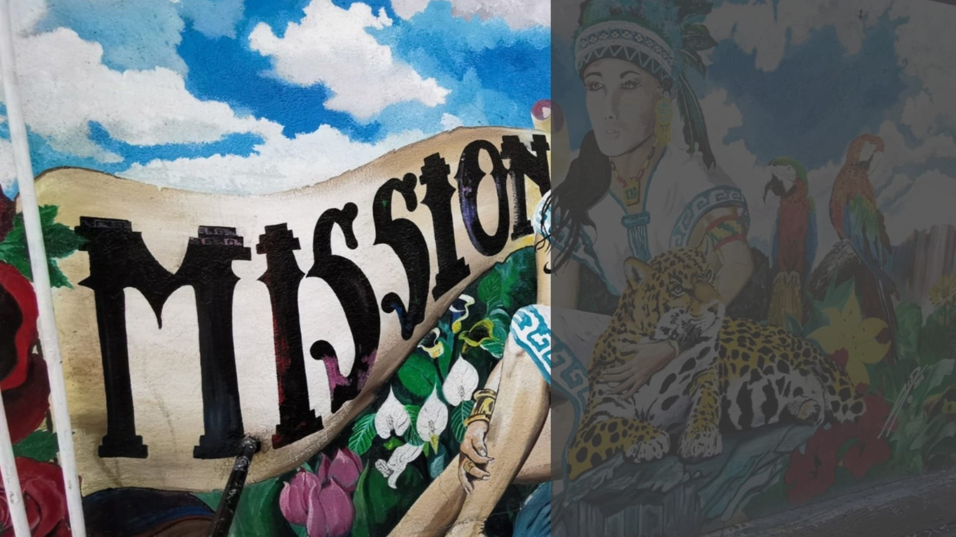 San Francisco's Mission Street murals speak of the city's multicultural history, ethos