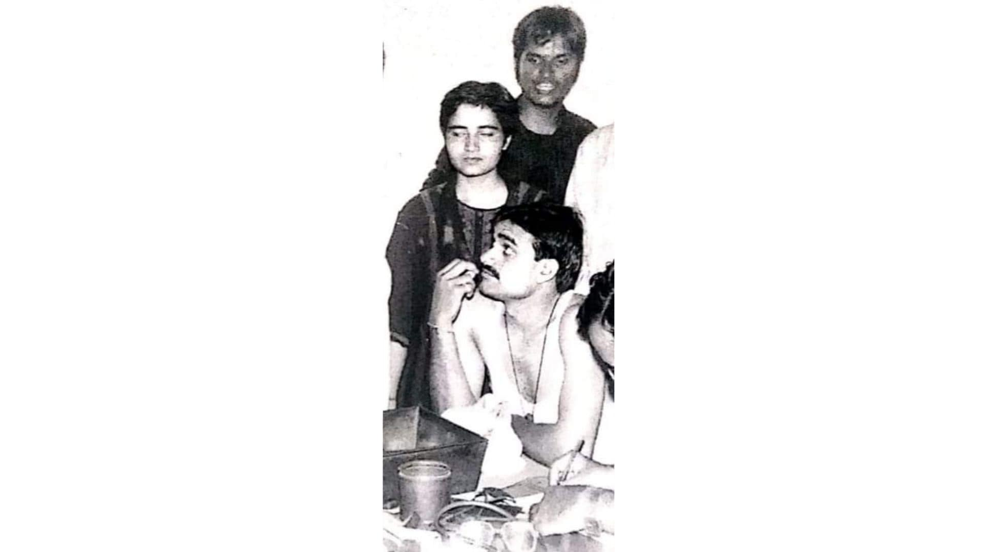 Pragya 8 - Pragya in an ABVP meeting in 1998. Seated below is V.D. Sharma, the MP from Khajuraho (Procured)
