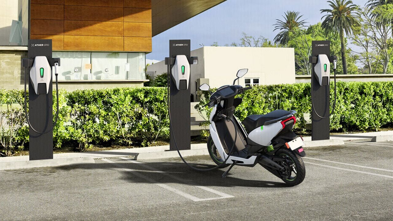 Ather charging station. Image: Ather Energy