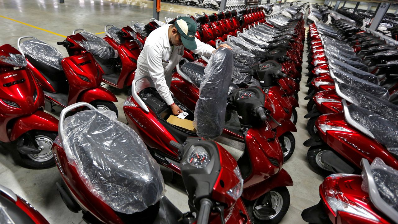 Representational image of a scooter factory. Image: Reuters