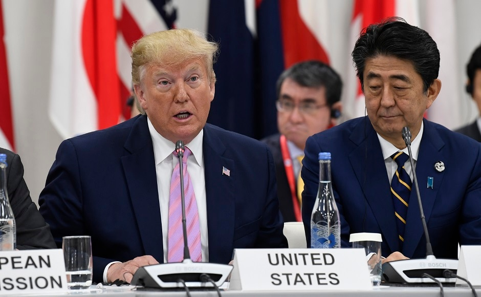 Trump struck a conciliatory tone with fellow world leaders at one of the most high-stakes G20 meetings in years, despite deep divisions on trade and climate change. Host Shinzo Abe, the Japanese prime minister, appealed for unity among bickering world leaders at the start of Japan's new era of