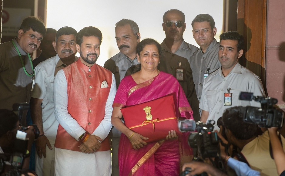 Doing away with the traditional brown budget briefcase, Sitharaman went for a red coloured bag, with the national emblem emblazoned on top of it. Nirmala Sitharaman proposed to merge the NRI portfolio scheme route with foreign portfolio investment route. PTI