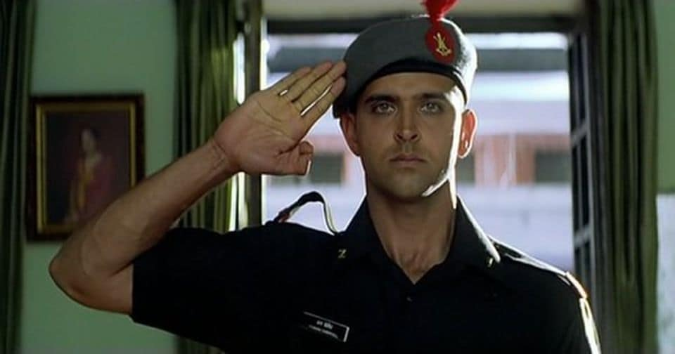 Hrithik in a still from Lakshya