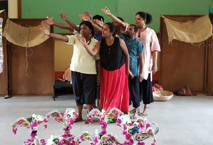 The play uses the karagam and intense music to paint a portrait of the woman who disappeared amid mysterious circumstances.