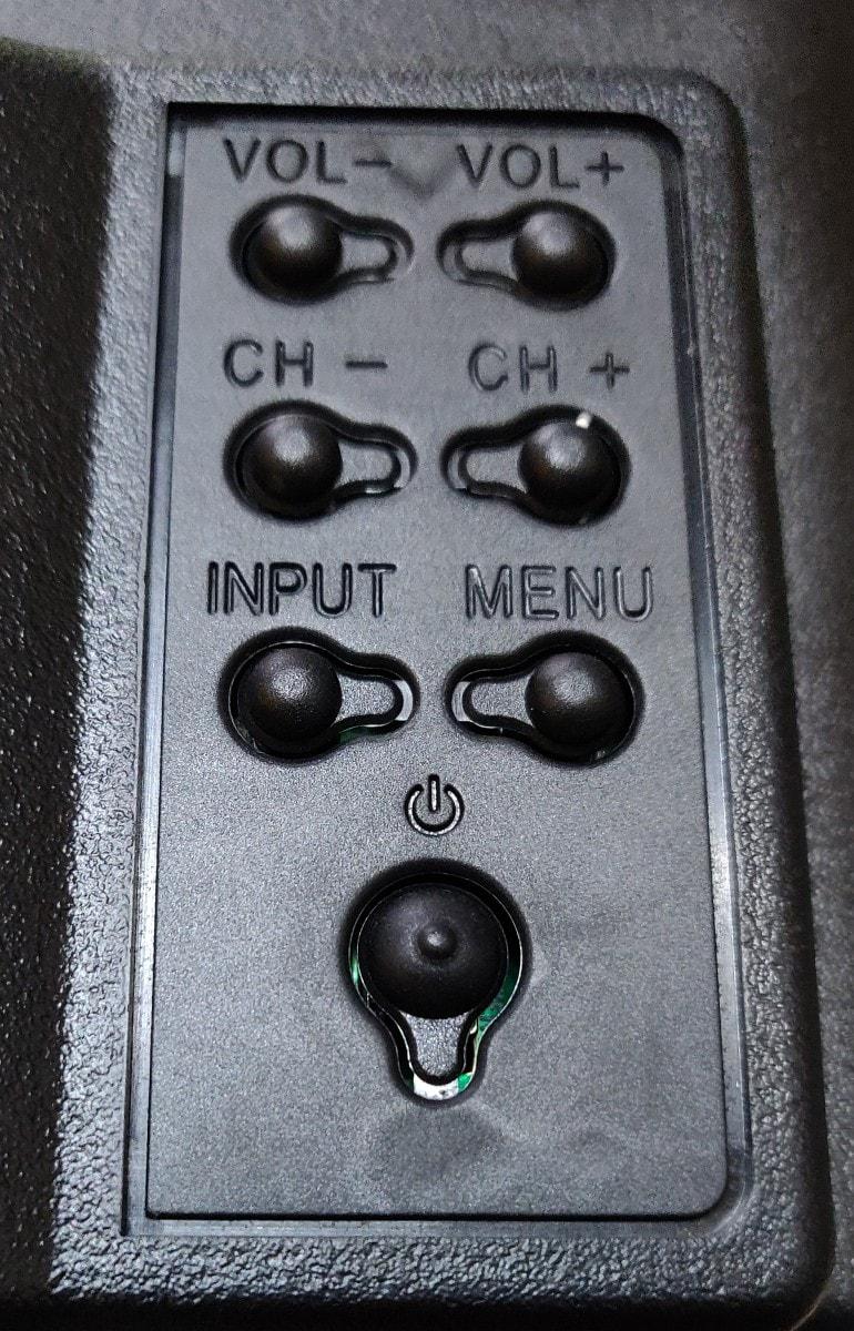 Kodak 43FHDXPRO Controls.