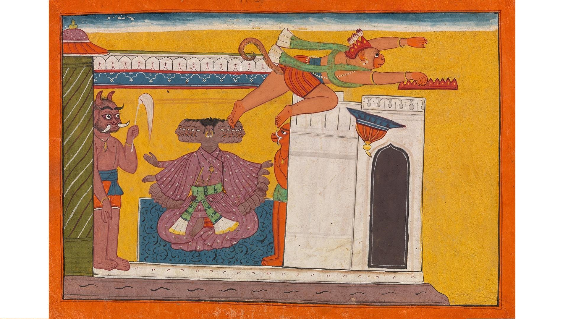 13. The Monkey Prince Angada Steals Ravana's Crown
