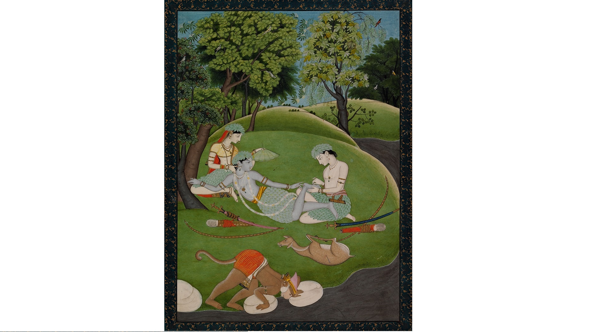 16. Rama, Sita and Lakeshmana Begin their Life in the Forest