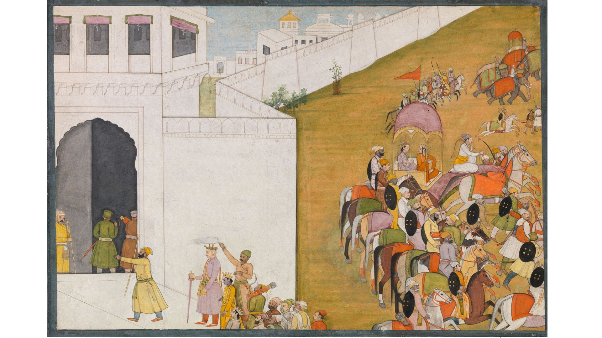 17. Rama Enters the City Gates of Mithila to Seek Sita's Hand in Marriage_sm