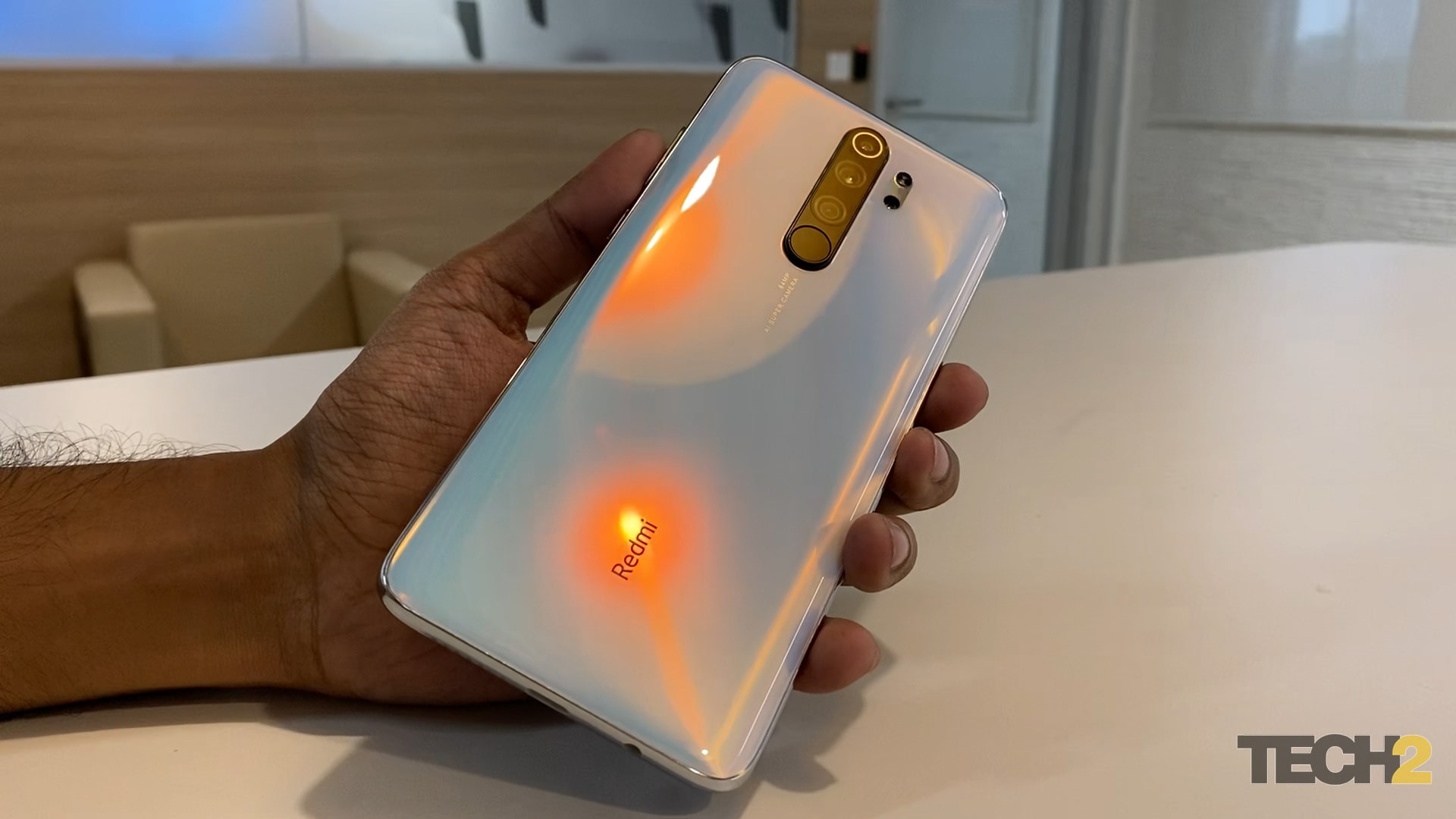 Redmi Note 8 Pro back comes with a dual-tone finish. Image: tech2