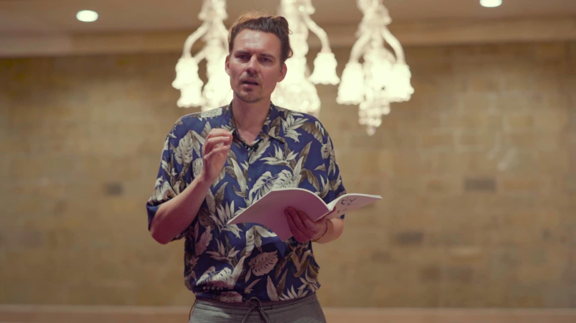 Watch: Spoken word poet Jurczok 1001's verses take on the media, politics and fake news