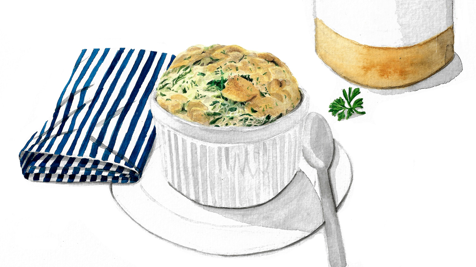 French Spinach Soufflé