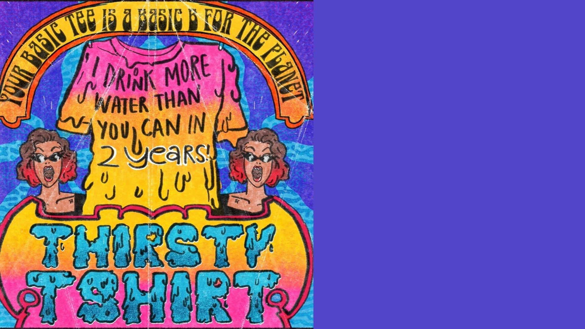 Indian artists design comic strips to raise awareness about water consumption in the fashion industry