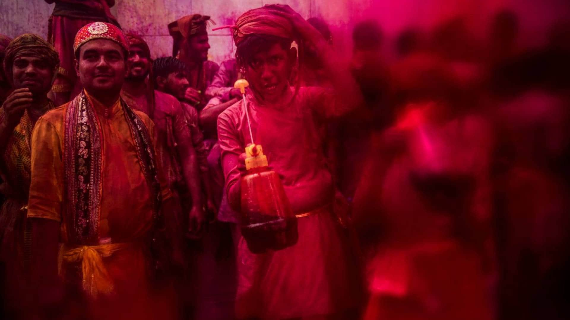 Revisiting Lathmar Holi, the colourful recreation of Radha-Krishna's relationship in villages of Nandgaon, Barsana