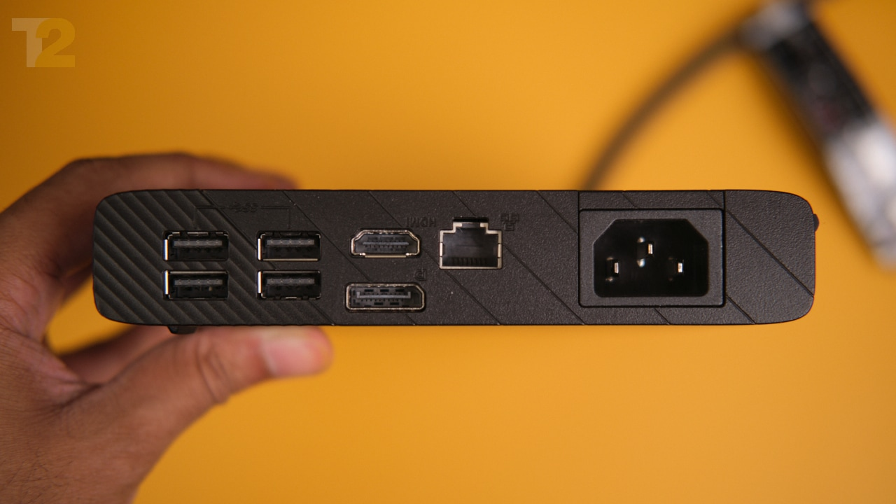 The eGPU enclosure also doubles as a USB dock that supports HDMI, DP1.4, USB-A, and more. Image: Anirudh Regidi