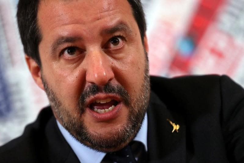 Italys Salvini hopes Macrons support dwindles at EU elections