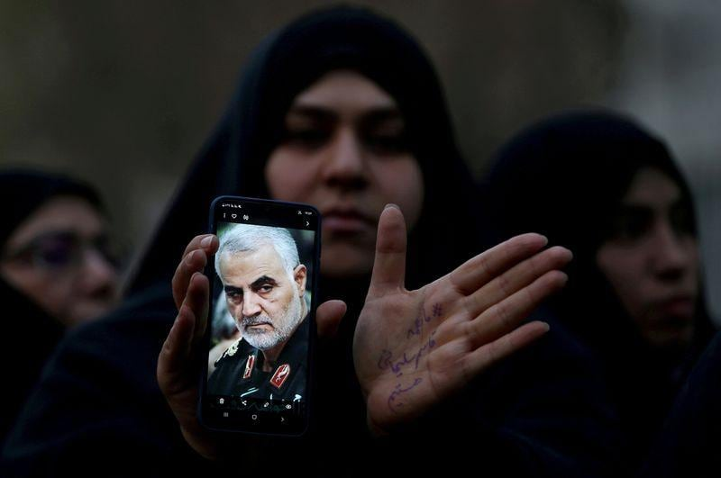 Iran commander vows resistance a year after Soleimani killing