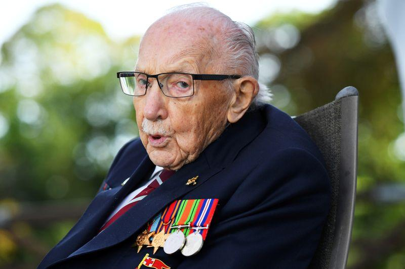 UKs recordbreaking fundraiser Captain Tom Moore dies aged 100
