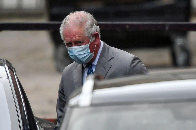 UKs Prince Charles visits father Philip in hospital