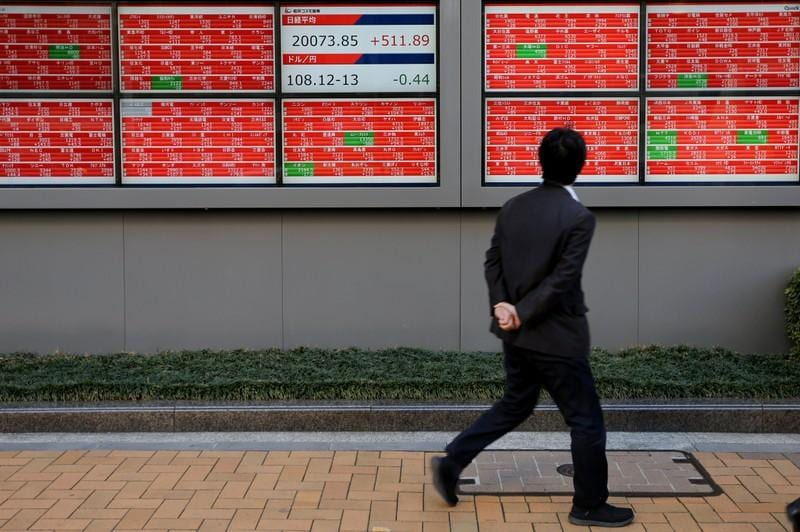 Asian shares steady ahead of Fed meeting; Mays Brexit deal in chaos