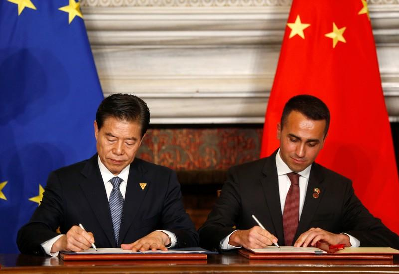 Italy endorses Chinas Belt and Road plan in first for a G7 nation