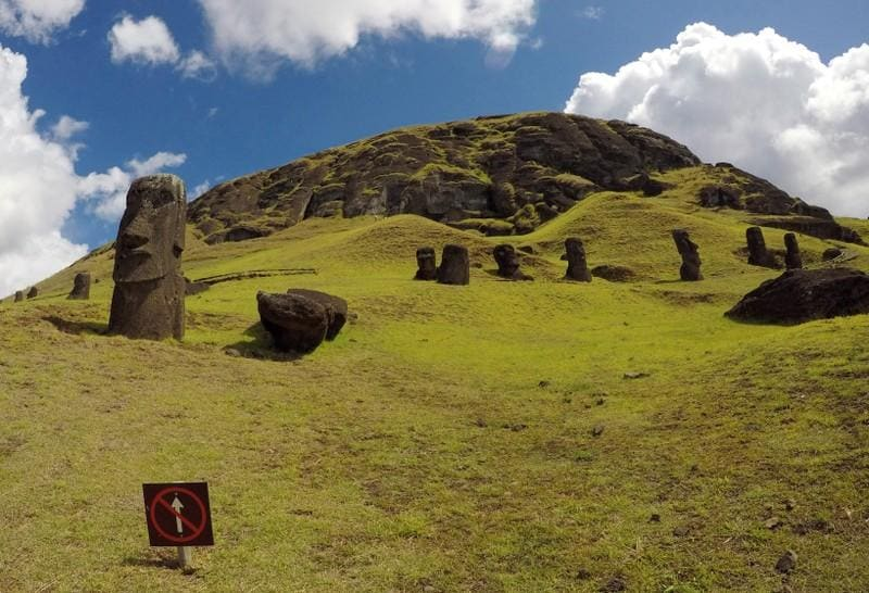 Corrected: Chill waters, arid land: climate change arrives on Easter Island