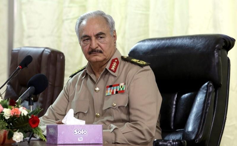 Eastern Libyan commander Haftar returning to Benghazi Thurs after Paris treatment