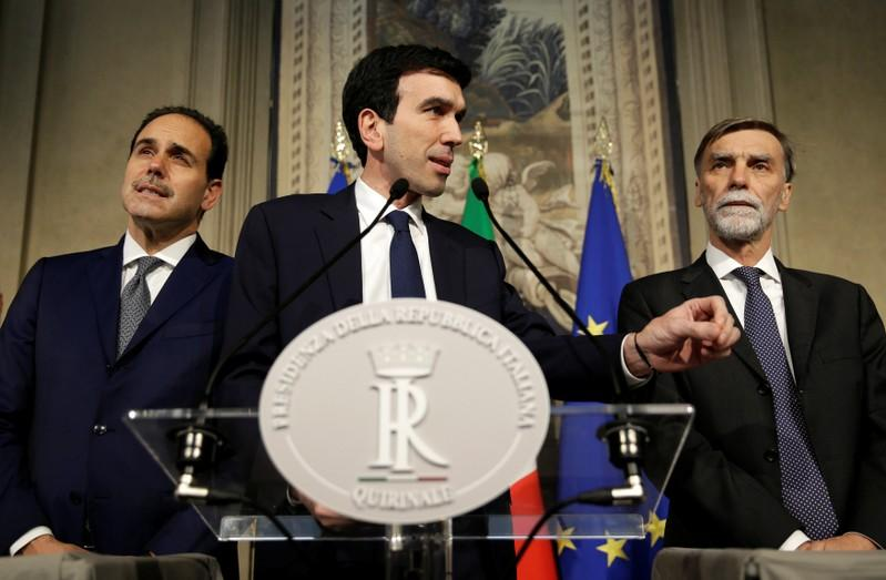 Italy's Democratic Party leadership to ponder government with Five-Star