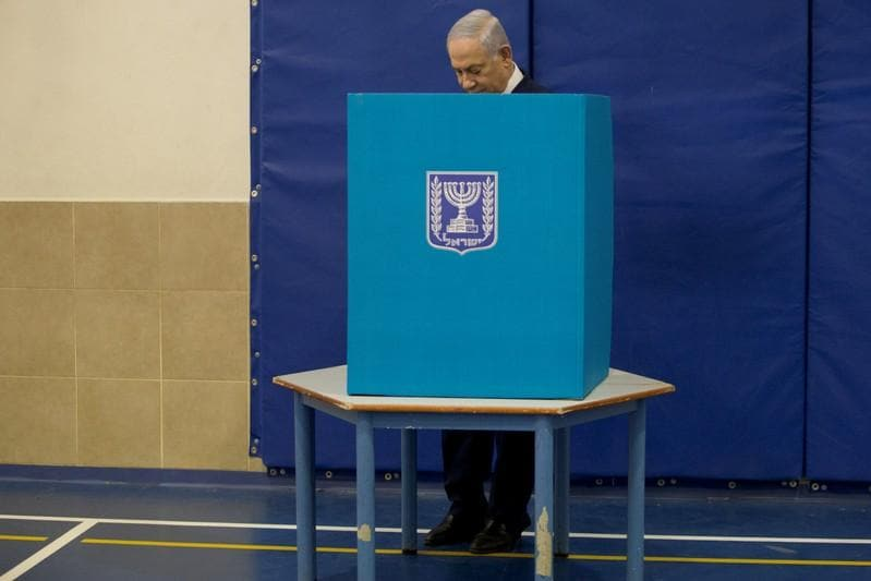 Netanyahu, rival Gantz both claim Israeli election win on narrow exit polls