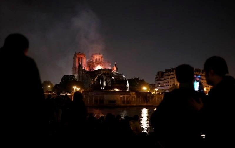 City of lights plunged into dark sorrow as NotreDame burns