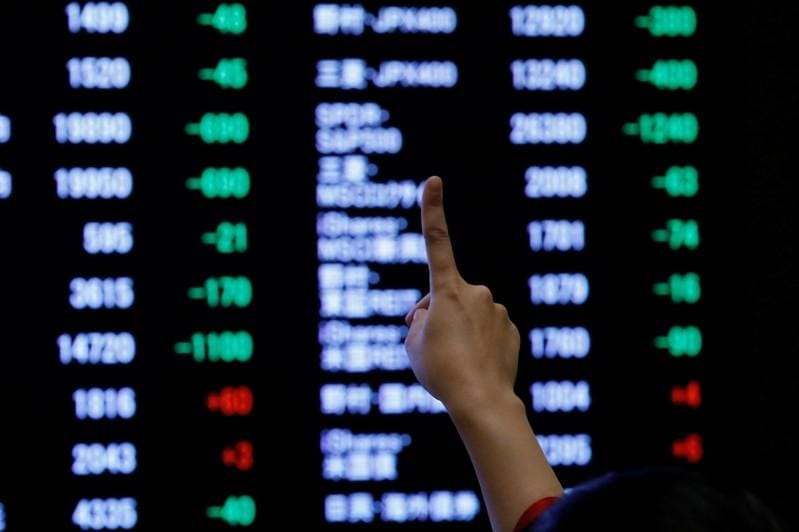 Asian shares edge up to nine-month high, European, Japan PMIs awaited