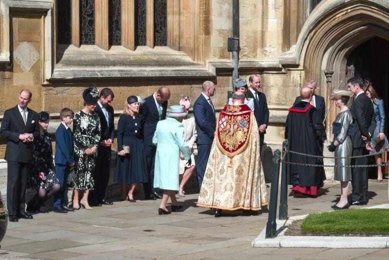Britains Queen Elizabeth celebrates 93rd birthday at Easter service