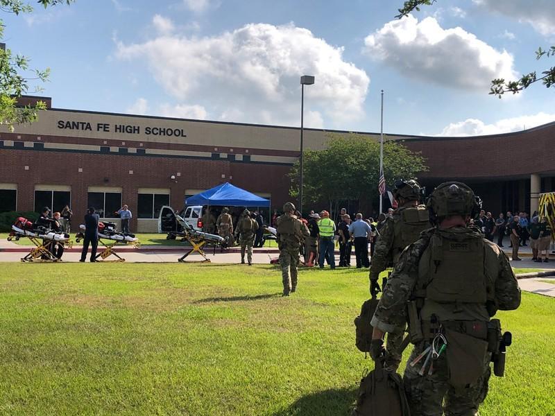 Eight to ten dead in Texas high school shooting: sheriff