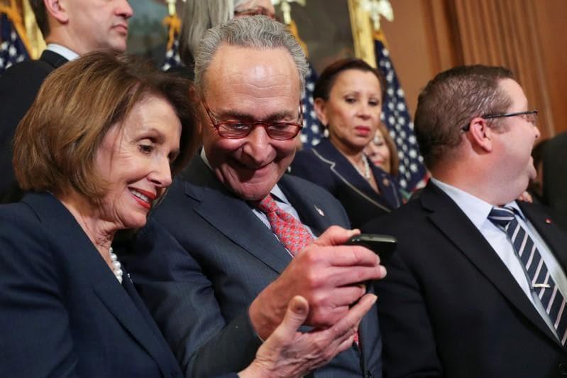 Democrats Pelosi, Schumer say budget talks productive