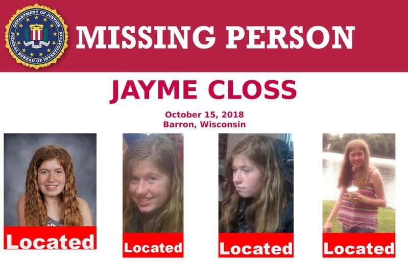 Jayme Closs family expected to give statement at kidnappers sentencing