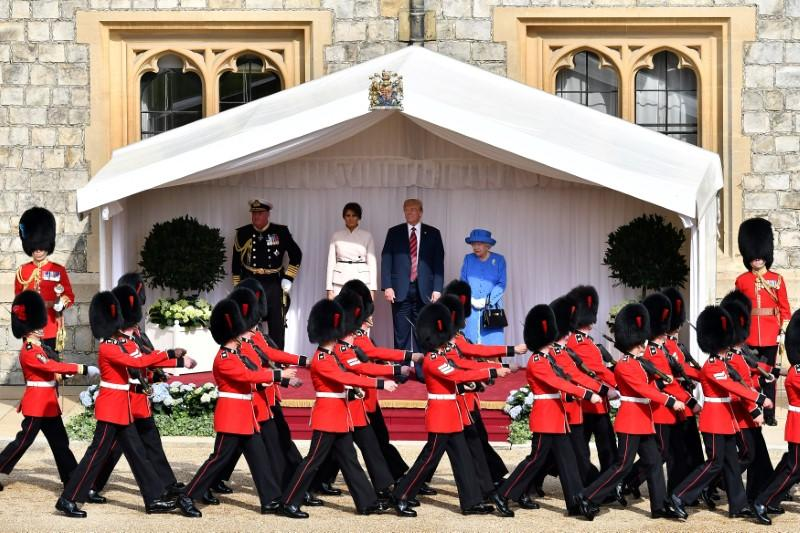 Trump to have banquet with queen and will meet PM May on UK state visit