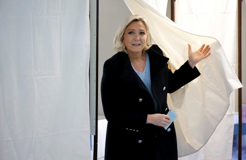 Exit polls show France's far-right on top in EU vote in France