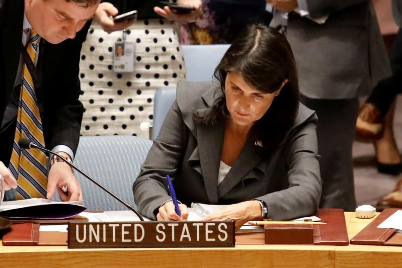 U.S. vetoes U.N. Security Council resolution denouncing violence against Palestinians